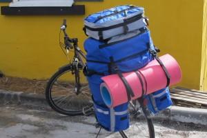 Велосумка штаны на багажник велосипеда