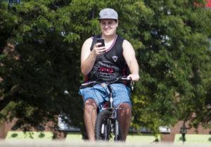 Ловля покемонов на велосипеде