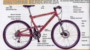 анатомия велосипеда