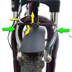 Как снять переднее колесо
