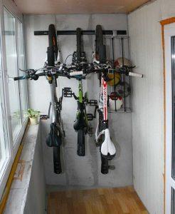 хранение велосипеда на лоджии