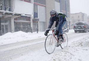езда по снегу