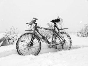 езда зимой на велосипеде