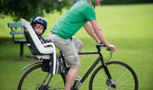 Детское велокресло на багажник велосипеда