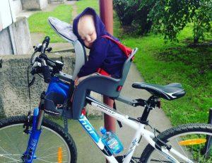 Детское велокресло с креплением спереди