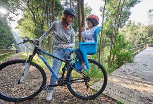 Детское велокресло с креплением сзади