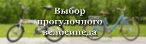 Выбор прогулочного-велосипеда