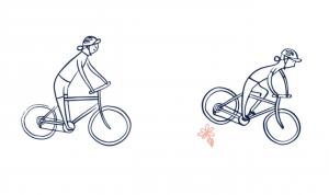 Поднятие заднего колеса