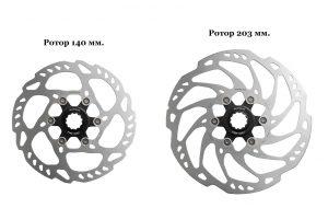 Ротор 140 и 203 мм.