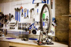 Велоколесо на ремонте