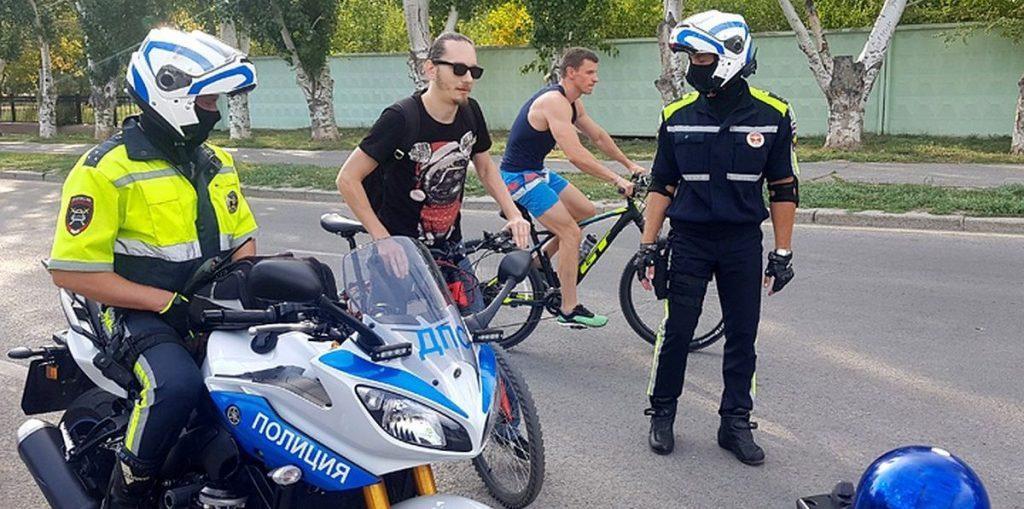 Полиция и велорайдеры