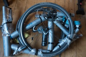 Разборка велобайка для перевозки
