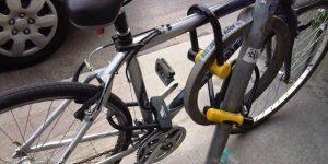 Пристегнутый велобайк